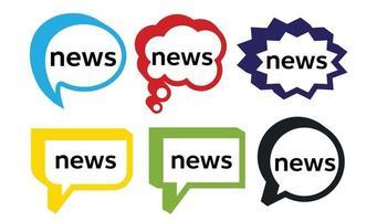mot de nouvelles et bulle de dialogue vecteur
