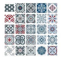 carreaux vintage motifs portugais conception sans couture antique en illustration vectorielle vecteur