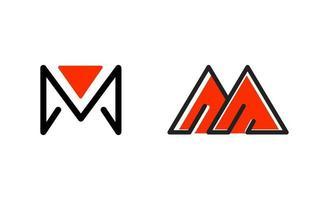 vecteur de conception d'inspiration initiale logo monogramme m