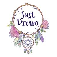 Boho Dream Catcher mignon avec citation vecteur