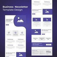 dernier modèle de bulletin d'information promotionnel sur les services aux entreprises vecteur