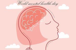 santé mentale mondiale. illustration vectorielle. santé mentale vecteur