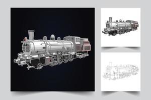 une illustration d'une locomotive de transport vecteur