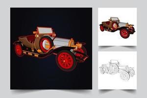illustration de voiture steampunk vecteur