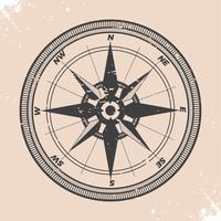 Illustration de boussole vintage vecteur