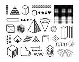ensemble de vecteurs d'éléments de conception de vecteur. éléments graphiques à la mode vecteur