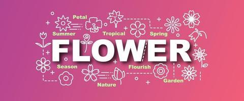 bannière tendance vecteur fleur