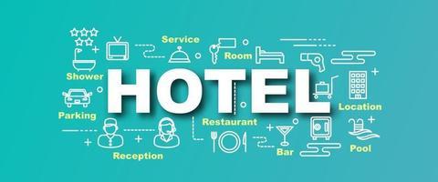 bannière tendance de vecteur hôtel