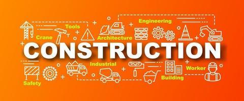 bannière tendance de vecteur de construction