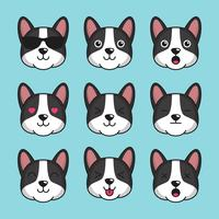 Émoticône de chien Basenji mignon vecteur
