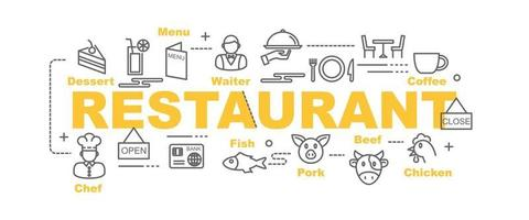bannière de vecteur de restaurant