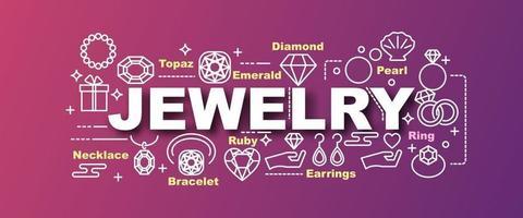 bannière tendance de vecteur de bijoux