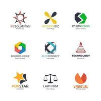 ensemble de conception de logo abstrait vecteur
