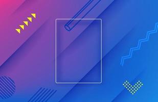 fond abstrait vecteur géométrique violet. modèle de page de destination