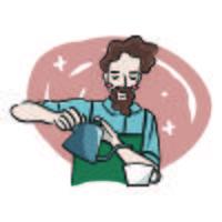 Illustration de Barista mignon