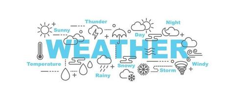 bannière de vecteur météo