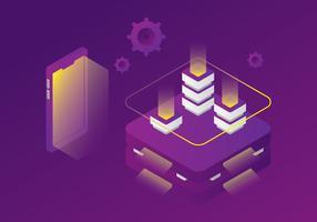 Data Mining et Blockhain Concept vecteur