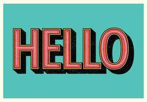 Bonjour typographie rétro vecteur