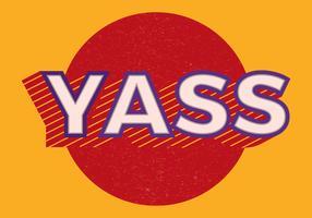 Yass Retro Typographie vecteur