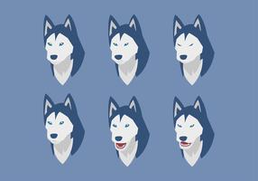 Vecteur d'émotions de chien