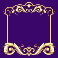 Cadre Fileteado avec vecteur de fond violet
