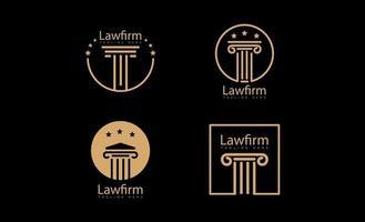 icône de vecteur de logo cabinet d & # 39; avocats isolé