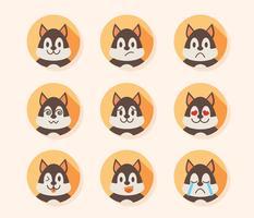 émotions de chien avatar vecteur
