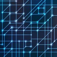 fond de vecteur de lignes de néon lumineux avec des nœuds d'intersection. concept de transmission de données de réseaux et de réseaux neuronaux.