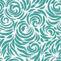 modèle sans couture de coups de pinceau de couleur turquoise sur fond blanc. vecteur