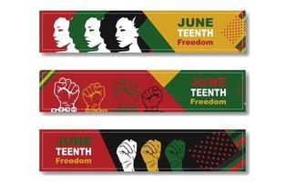 bannière de la journée de la liberté du dixième juin vecteur