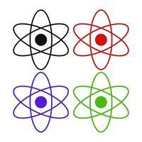icône d & # 39; atome sur fond blanc vecteur