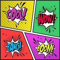 Effets sonores de bande dessinée vecteur