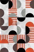 motif géométrique abstrait de style bauhaus sans soudure, fond géométrique abstrait vecteur