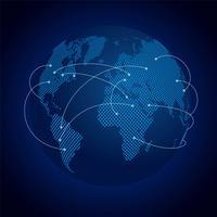 Réseau mondial de la Terre numérique vecteur