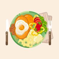 Illustration de vecteur petit déjeuner
