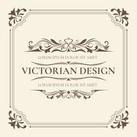 Modèle de conception victorienne vecteur