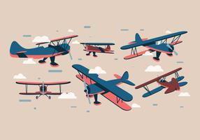 Vecteur de Biplan Vol 2
