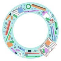 cadre de cercle pour la papeterie scolaire vecteur