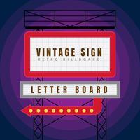 Beaux vecteurs de signes vintage