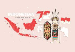Vecteur indonésien de la fête de l'indépendance