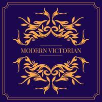 Vecteur de cadre victorien moderne