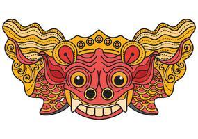 masque de balong de barong vecteur