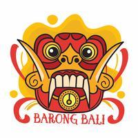 Masque Bali Barong vecteur