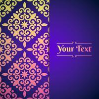Fond élégant avec ornement dentelle et place pour le texte vecteur