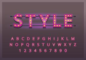 Set de typographie rétro Vintage vecteur