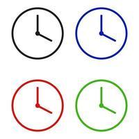 icône d & # 39; horloge sur fond vecteur