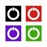 icône du bouton d'alimentation sur fond vecteur