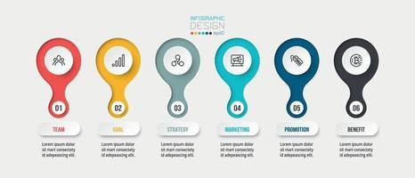 modèle d'entreprise infographique avec conception d'étape ou d'option. vecteur