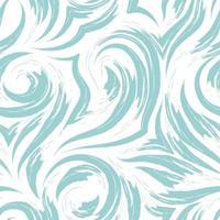 texture vectorielle continue d'un tourbillon de vagues ou de courants de couleur pastel turquoise isolé sur fond blanc. vecteur