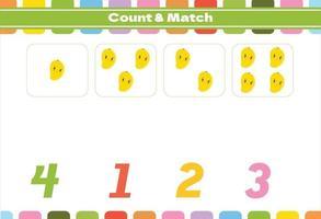 jeu de comptage pour les enfants d'âge préscolaire vecteur